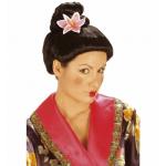 Perruque fujiko avec fleur