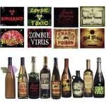 8 étiquettes halloween pour bouteilles