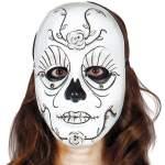 Masque blanc décoré