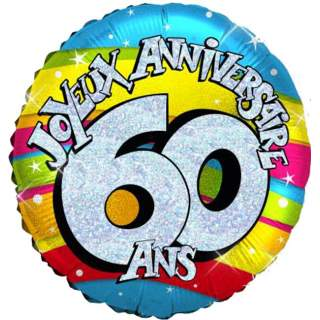 Ballon joyeux anniversaire 60 ans m ga f te - Animation anniversaire 60 ans femme ...