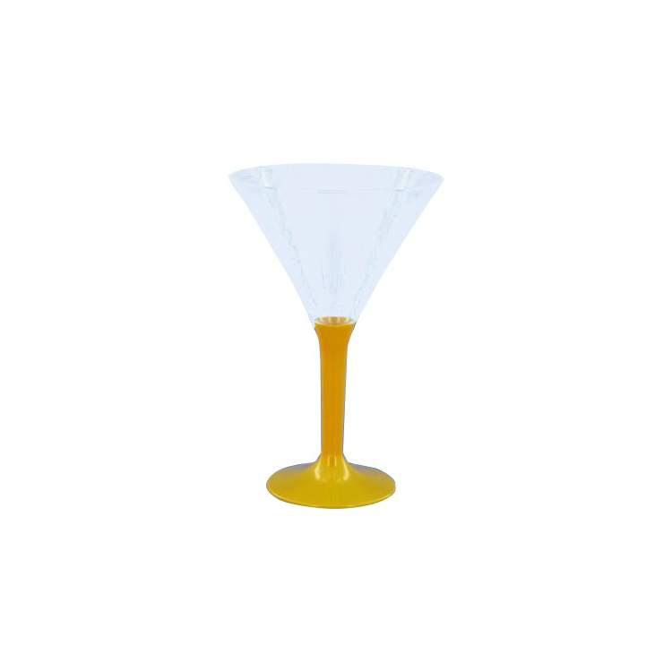 6 verres cocktail pied couleur m ga f te for Cocktail 3 couleurs