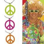 Collier hippie peace and love
