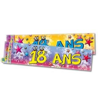 Banderole anniversaire 18 ans