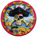 8 assiettes carton pirates