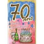 Carte Joyeux Anniversaire 70 ans