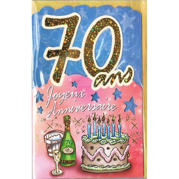 Carte joyeux anniversaire 70 ans m ga f te - Carte anniversaire 70 ans a imprimer ...