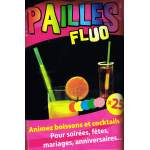 25 pailles fluo lumineuses