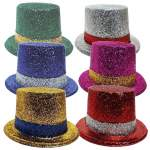 Chapeau haut de forme paillettes bicolore