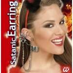 Boucle d'oreille étoile avec chaine