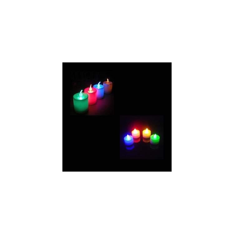 4 bougies lumineuses led m ga f te. Black Bedroom Furniture Sets. Home Design Ideas