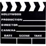 Clap de cinéma en bois