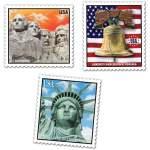 3 timbres déco USA géant