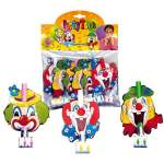 6 langues de belle-mère clown
